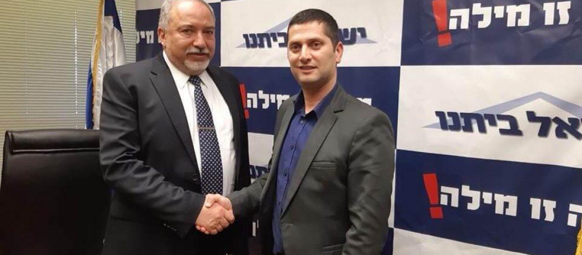 רועי לוי ושר הביטחון אביגדור ליברמן